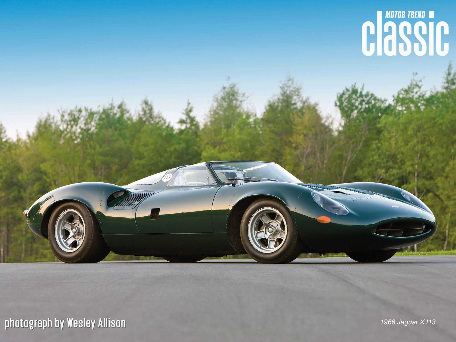 1966 jaguar XJ13 front three quarters
