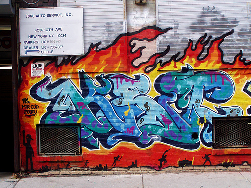 alan ket graffiti fire