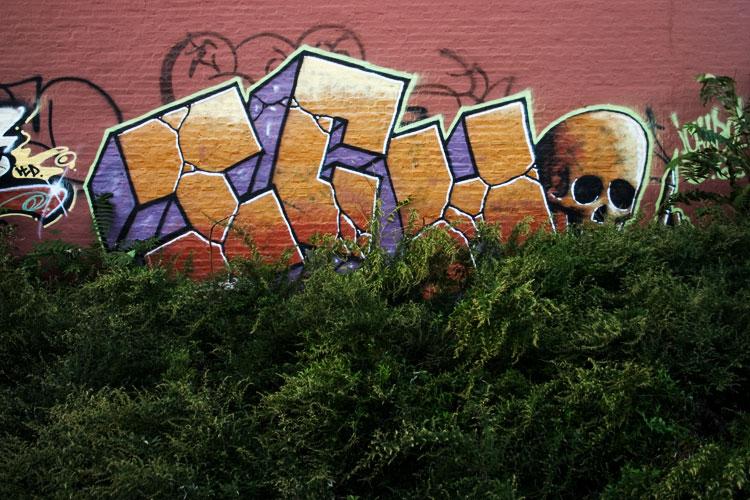 ich skull graffiti