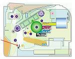 Illustrations regarding registration rollers and registration sensor